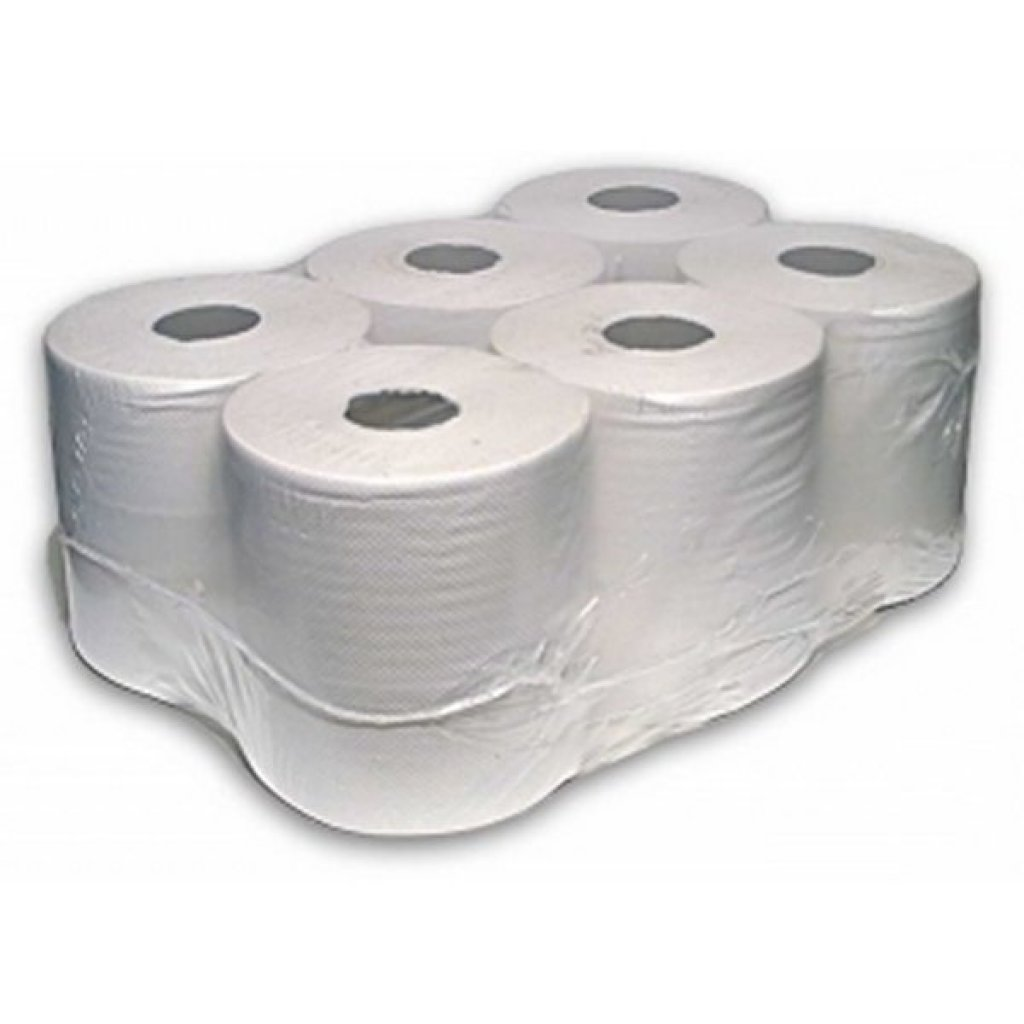Centre Feed 2 Ply WHITE Paper Hand Towel 150m Rolls