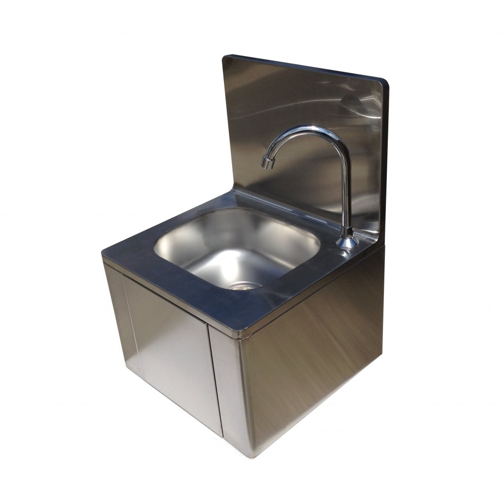 Stainless Steel Knee Operated Hand Wash Basin Sink Easy
