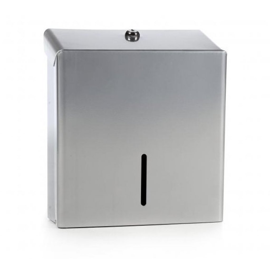 Hand Towel Dispenser B Q: SILVER Coated Steel Paper Hand Towel Dispenser
