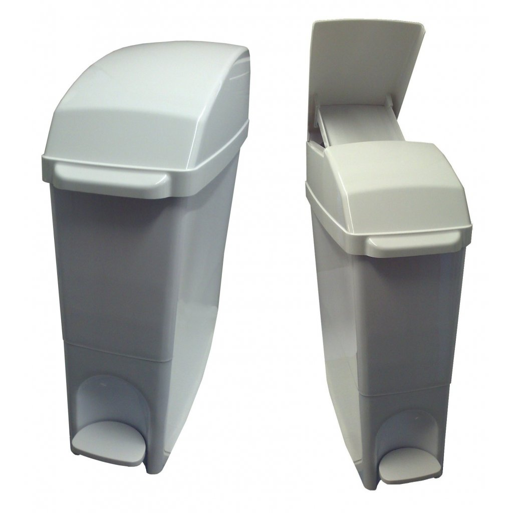 Classic Buy Sanitary Bin 15 Litre Compact White X4 Easy