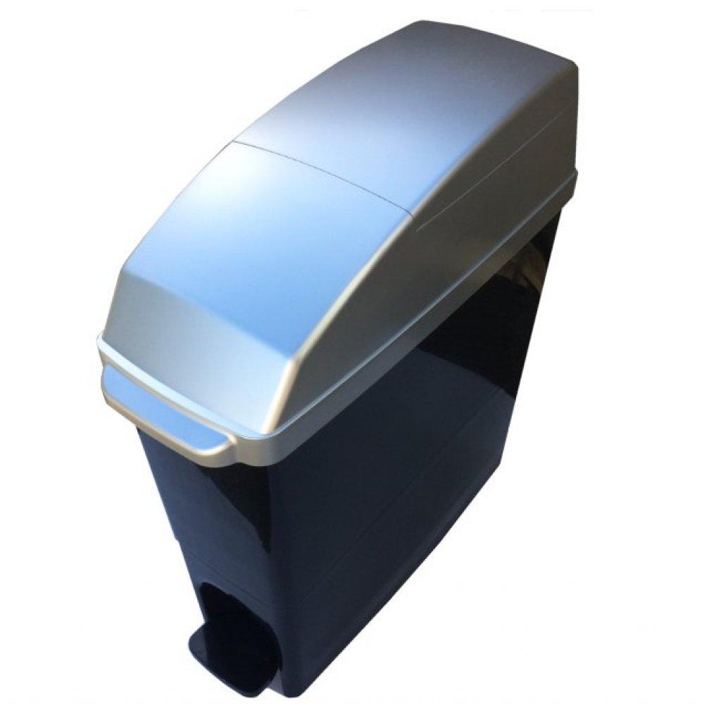 Classic Buy Sanitary Bin 15 Litre Compact Silver Amp Black