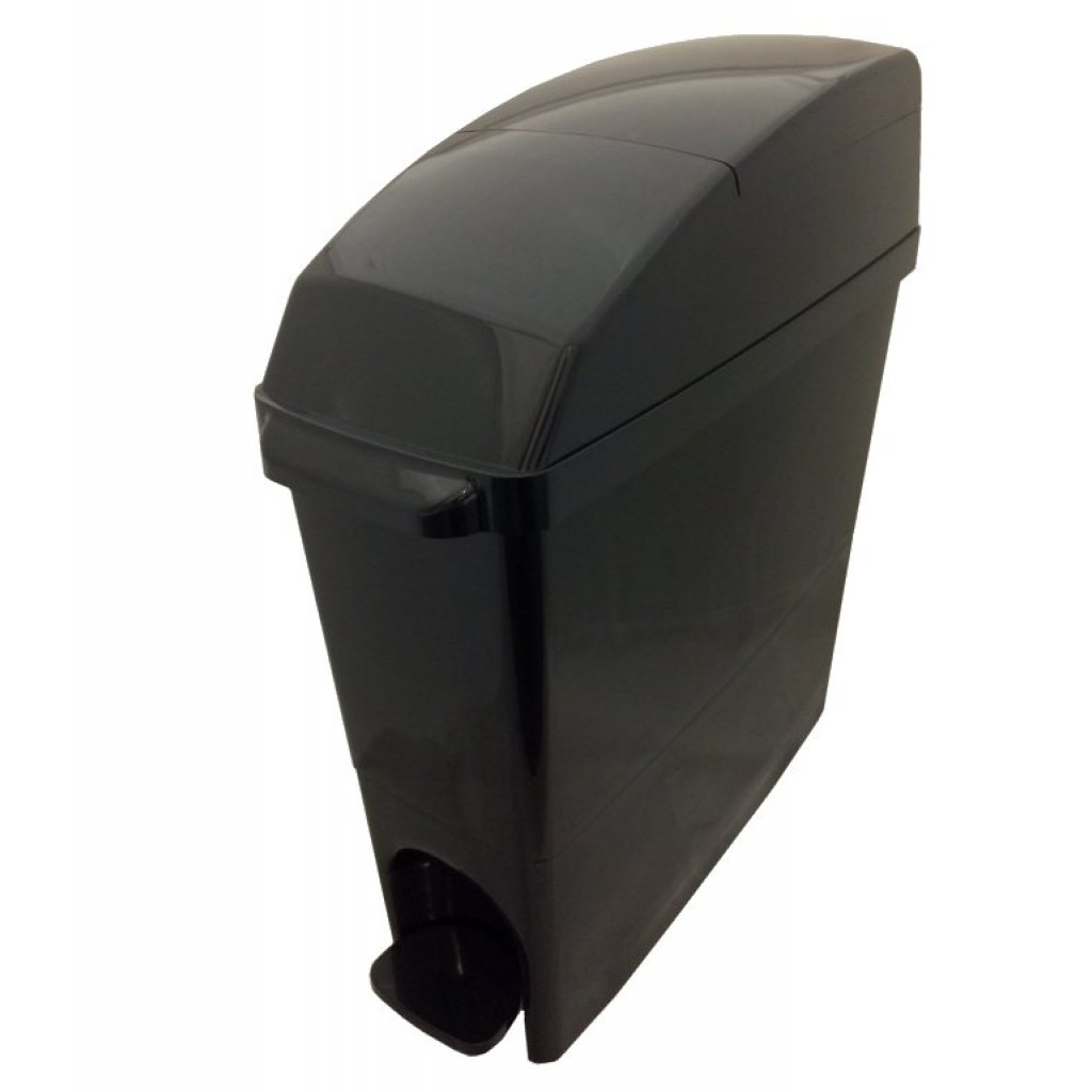 Classic Buy Sanitary Bin 15 Litre Compact All Black Easy