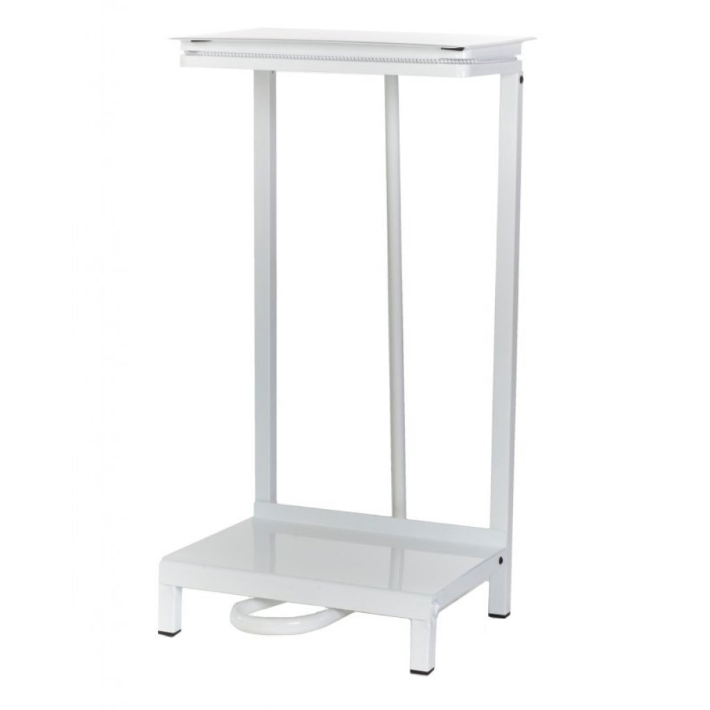 Metal Free Standing Steel Sack Holder White Coated Easy
